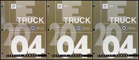2004 Cadillac SRX Repair Shop Manual Original 3 Volume Set