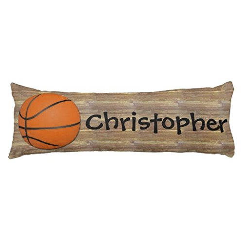 Personalized Basketball Wood Floor Body Pillow Cover 20''x54''