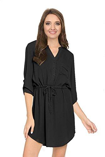 Buy belted black shirt dress - 7