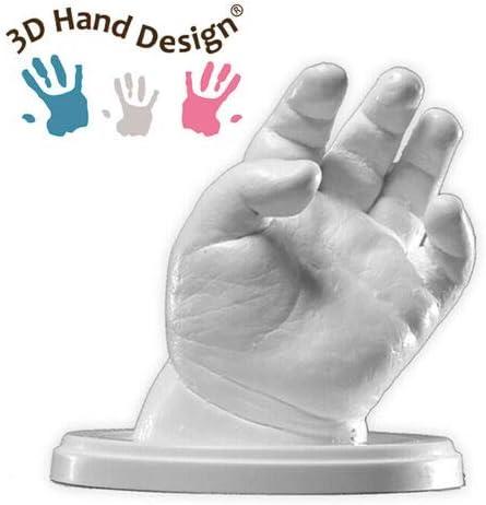Lucky Hands® Huellas en 3D | Improntas Mano | Idea de Regalo para el Día de la Madre (C: 7-48 Meses | sin Accesorios, 2-3 moldes)