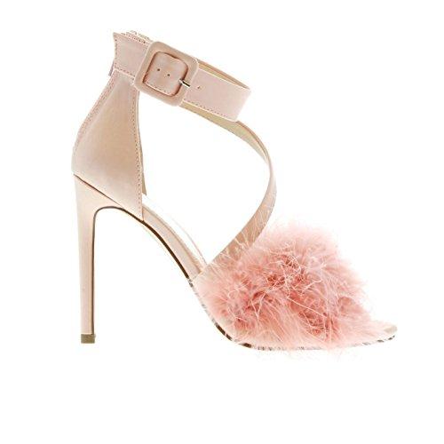 Miso Damen Frill Me Heel Blush Pink 40