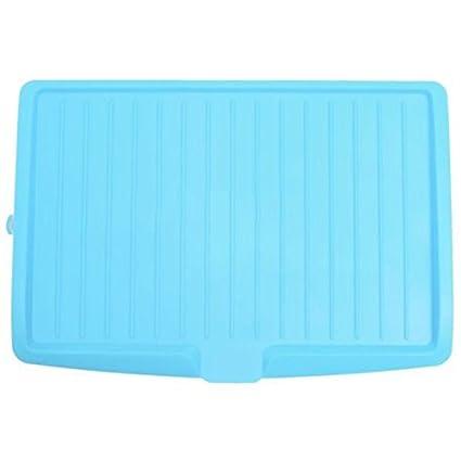 Plato de escurridor - SODIAL(R)Escurreplatos de plastico bandeja de goteo de estante