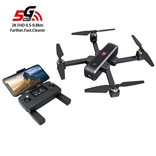 (Auvem GPS RC Foldable Drone , 2.4Ghz Remote Control Quadcopter MJX Bugs 4 W B4W 5G WiFi FPV Brushless Helicopter with 2K HD Camera GPS RC Foldable Drone for Beginners (Black))