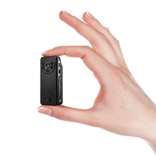 Mini Home Security Camera, Conbrov T12 720P Wearable Nanny Cam with Night Vision and Loop Recording, Portable Video Recorder Body Camera for Home and Office Monitoring by Conbrov
