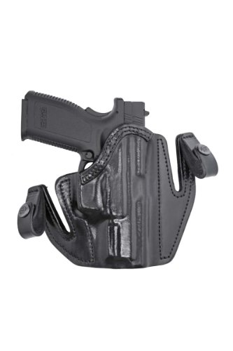 Front Line Tuckable Open Top Leather Holster (Black), Caracal, Left Hand