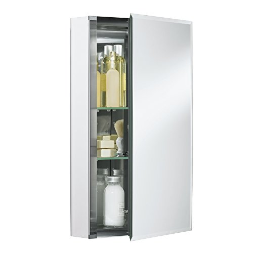 KOHLER 15 in. x 26 in. Recessed or Surface Mount Medicine Cabinet in White Powder-Coat Aluminum