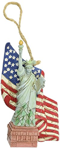 "Jim Shore Heartwood Creek 4053847 Creek Statue of Liberty Stone Resin Hanging Ornament, 4.5"" , Multicolor"