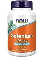 Now Foods Selenium, 100 mcg, 250 Tabs (Pack of 2)
