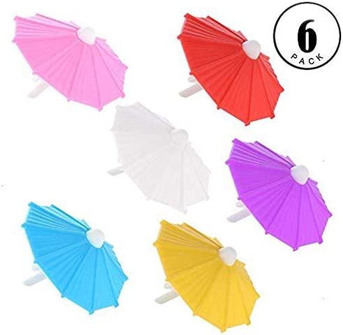 Umbrella Drink Markers Glass Charms%EF%BC%886 Count%EF%BC%89 product image