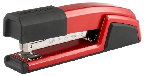 Bostitch Epic All Metal Antimicrobial Stapler with Integrated Staple Remover and Staple Storage (B777-RED) by Bostitch Office