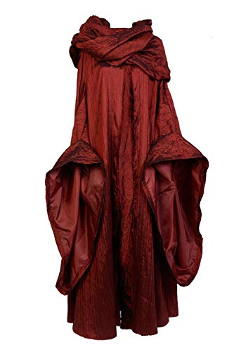 Cosplaybar GOT The Red Woman Melisandre Dress Outfit Cloak Cosplay Costume -