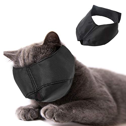 Beikal Muzzle for Cat Grooming, Nylon Cat Muzzles Face Mask, Pet Groomer Helpers Tools, Preventing Scratches and Anti-Biting (M)