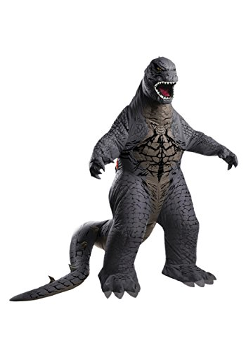 [Deluxe Godzilla Inflatable Costume - Standard - Chest Size 44] (Godzilla Halloween Costumes)