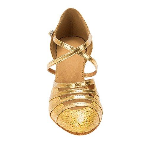 BCLN Womens Ballroom Dance Pumps Party Shoes with 3.0 Heel Ql0CA1j