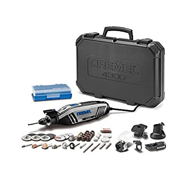 Dremel 4300-5/40 High Performance Rotary Tool Kit with Universal 3-Jaw Chuck, 5 Attachments and 40 Accessories