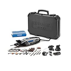 The Dremel 4300 is the first Dremel rotary tool to allow tool-less and collet-less accessory changes with the inclusion of the three-jaw chuck. The chuck accepts all Dremel accessory shank sizes for fast and convenient accessory changes witho...