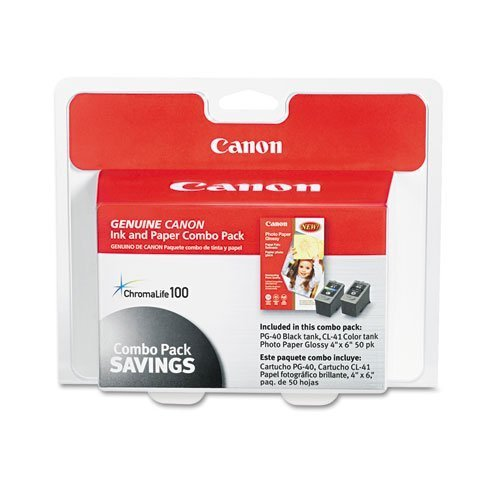 Canon 0615B009 Inks & Paper Pack Combo, PG-40, CL-41, PG-...