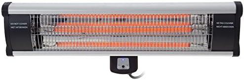Outtrade - Calentador de pared (fibra de carbono, control a distancia, 65 x 20 cm), color negro