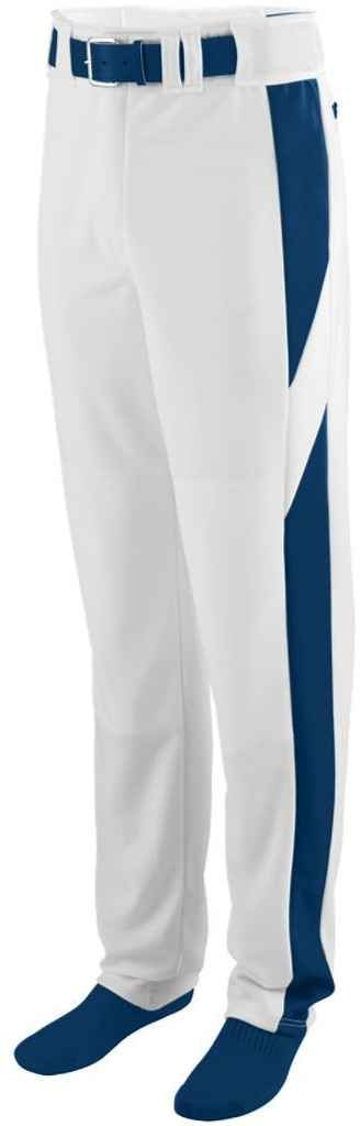Augusta Sportswear Big Boy 'sリラックスフィット野球パンツ B00P544BDS Medium|ホワイト/ネイビー ホワイト/ネイビー Medium