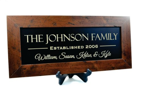 MRC Wood Products Personalized Family Name Sign 10x22 The Rustic