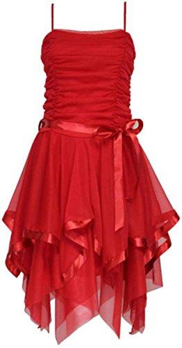 Les Nouvelles Femmes Dames Strappy Robes De Bal De Demoiselle D'honneur Cocktail Courte Soirée 8-14 Rouge
