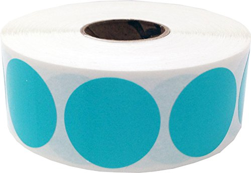 Color Coding Labels Teal Round Circle Dots For Organizing Inventory 1 Inch 500 Total Adhesive Stickers