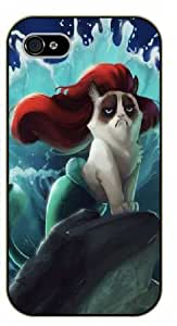 iPhone 5 / 5s Grumpy cat as a mermaid - black plastic case / Keep Calm, Motivation and Inspiration