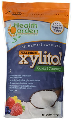 Health Garden Kosher Birch Xylitol 1 Lbs. Product of USA (Not From Corn) PACK OF 2