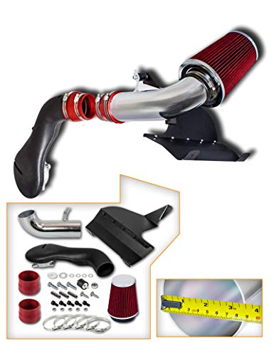 JX-Trading Aluminum Cold Heat Shield Air Intake Kit + Red Filter for 1996-2004 Chevrolet Blazer 1996-2004 GMC Sonoma 1996-2001 Jimmy 4.3L V6