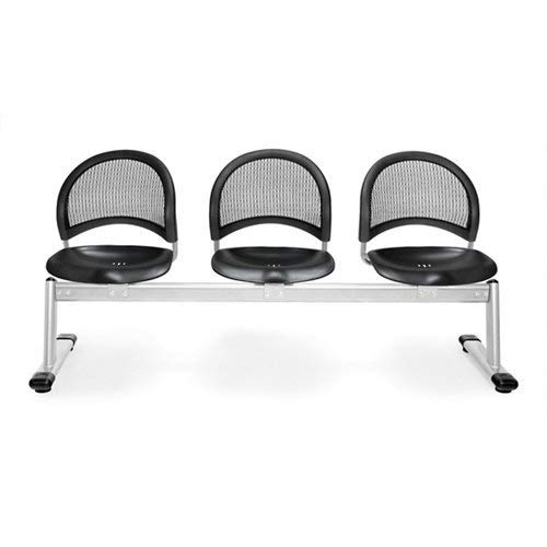 (OFM 333-P-BLK Moon 3-Unit Beam Seating with 3 Seats)