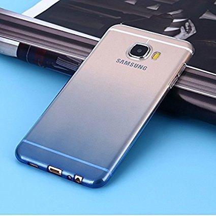 hot sale online 2f54c d29b2 LOXXO Soft Gel Tpu Silicone Skin Slim Back Case Cover for Samsung Galaxy J  7 Prime (BLUE)