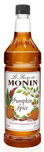 Monin Pumpkin Spice Syrup, 33.8-Ounce Plastic Bottle (1 ()