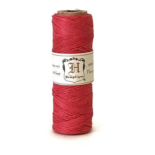 (Hemp Cord Spool 10# Red 205 Feet )