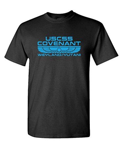 Uscss Covenant   Weyland Yutani Xenomorph   Mens Cotton T Shirt  2Xl  Black