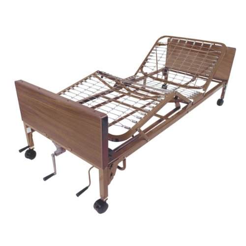Drive Medical Multi Height Manual Hospital Bed Mattress, Full Rails & Foam by Drive Medical (Image #1)