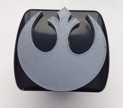 Black with Grey Super Hero Darth Vader Stickysight.com Rebel Alliance in 3D 2 inch Trailer Hitch Cover