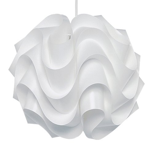 modern poul christiansen style white folded waves 172 le klint