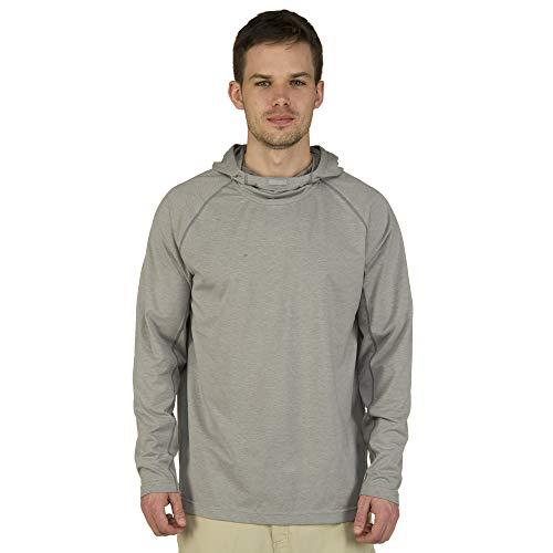Ultimate Terrain Men's Trailhead Bug Repel Pullover Hoodie Alloy Heather ()