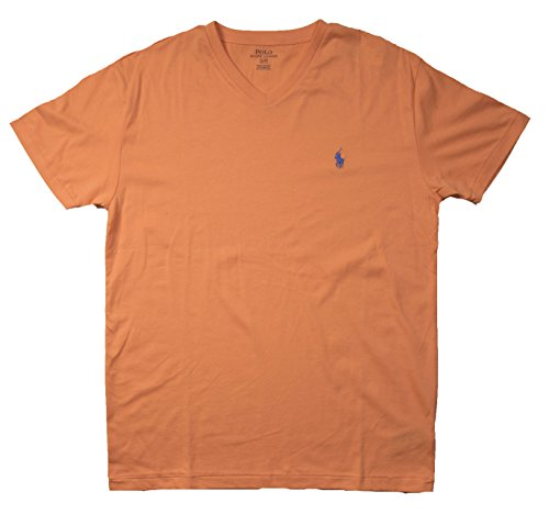 Ralph Lauren Herren T-Shirt rot rot Gr. S, Orange V Neck