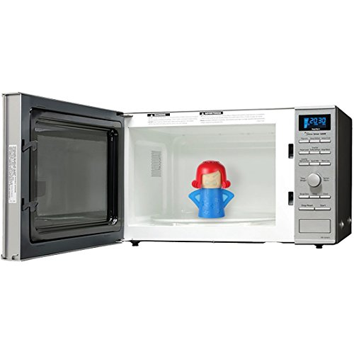 Home-X Steam'n Mama Microwave Cleaner. Blue Body and Red Hair