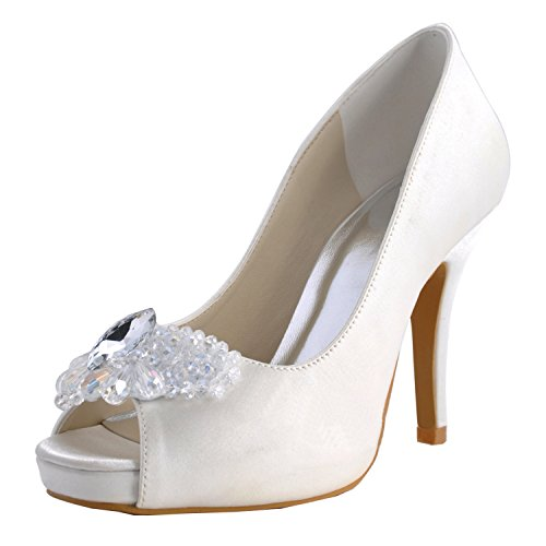 Heel femme Escarpins blanc White 10cm Minitoo pour FxREHqwBWp