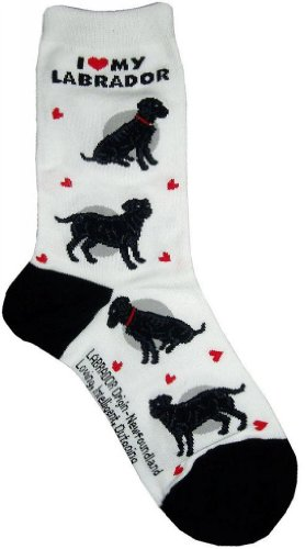 I Love My Labrador(Black) Gift Collection (Women Cotton (Labrador Retriever Socks)