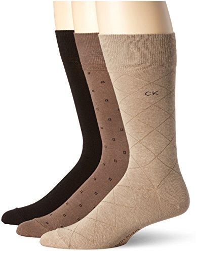 Calvin Klein Mens 3 Pack Fashion Geometric Socks