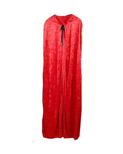 Red Queen Costumes Ideas (Hooded Cape Medieval Style Halloween Velvet Cosplay Cloak Costume Ball Fancy Dress)