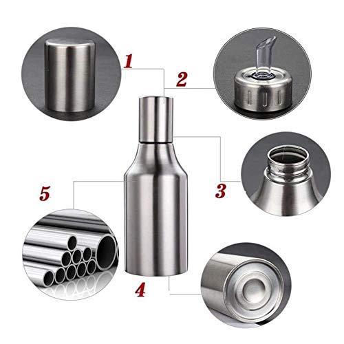 HQGOODS Oil Dispenser,Stainless Steel Olive Oil/Vinegar/Sauce Cruet Oil Bottle Edible Oil Container Pot - Non drip Pouring Spout(33 oz/1000ML) by HQGOODS (Image #4)