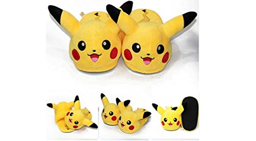"Pokemon Pikachu Adult Plush Slipper - Fit up to 11"" long"