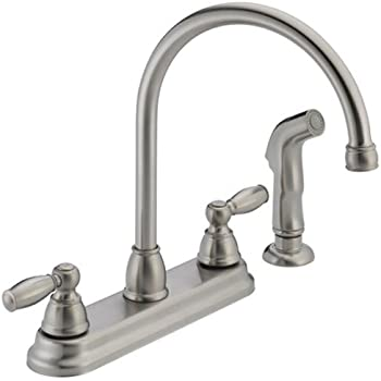Peerless P299575LF SS Apex Two Handle Kitchen Faucet, Stainless