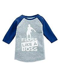 Tstars Floss Like a Boss Funny Emote Flossing Dance 3/4 Sleeve Raglan Toddler Shirt