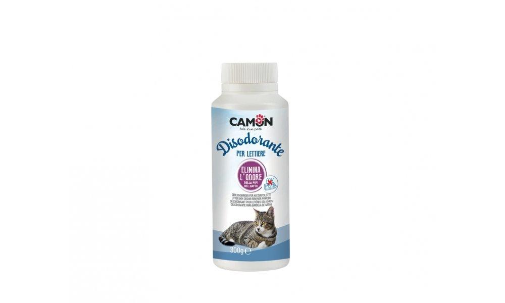Déodorant en poudre Camon pour la litière. Neutralise les odeurs désagréables de la litière de votre chat