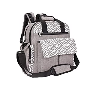 Diaper Bag,FITNATE Multi-Function Large Capacity Diaper Backpack with Waterproof Travel Backpack Nappy Bags for Baby Care, Large Capacity (Grey)